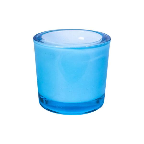 Stakleni svećnjak za čajnu sveću u boji